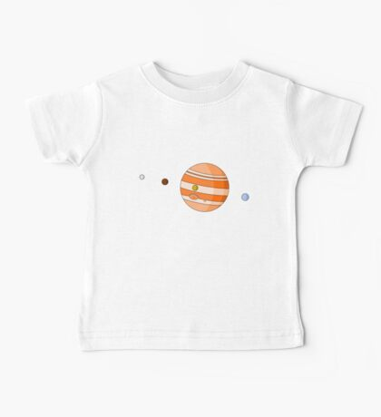 Cartoon Jupiter Planet Baby Tee