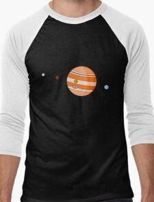 Cartoon Jupiter Planet Men's Baseball ¾ T-Shirt