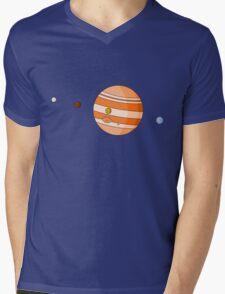 Cartoon Jupiter Planet Mens V-Neck T-Shirt