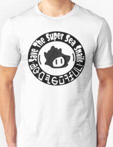 Save The Super Sea Snails BW LOGO Unisex T-Shirt