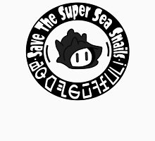 Save The Super Sea Snails BW LOGO Men's Baseball ¾ T-Shirt