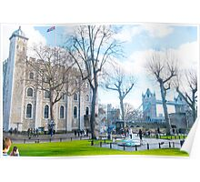 Tower of London and Tower Bridge Poster