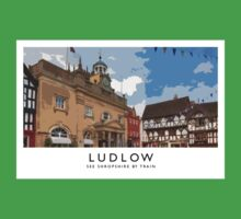 Ludlow (Railway Poster) One Piece - Short Sleeve