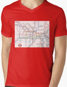 London Underground Mens V-Neck T-Shirt