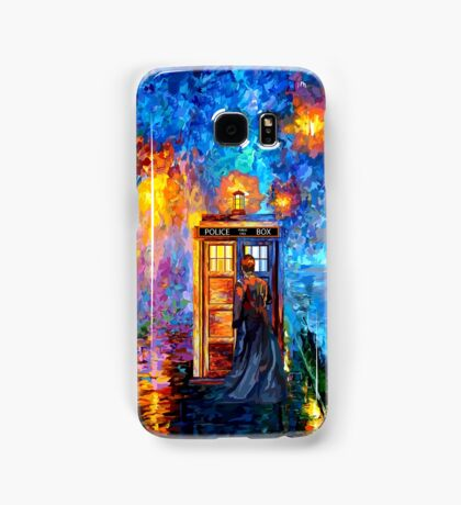 Time Traveller lost in the strange city art painting Samsung Galaxy Case/Skin