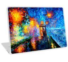Time Traveller lost in the strange city art painting Laptop Skin