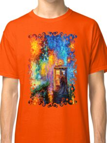 Time Traveller lost in the strange city art painting Classic T-Shirt