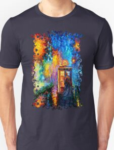 Time Traveller lost in the strange city art painting Unisex T-Shirt