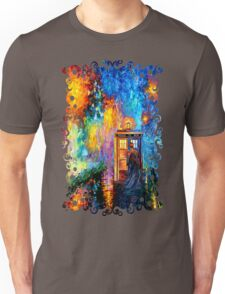 Time Traveller lost in the strange city art painting Unisex T-Shirt