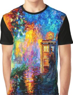 Time Traveller lost in the strange city art painting Graphic T-Shirt