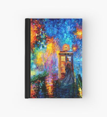 Time Traveller lost in the strange city art painting Hardcover Journal