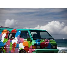 Colourful Transport Hippie Bus Photographic Print