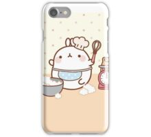 kawaii molang lets bake a cake iPhone Case/Skin