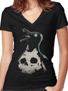 Penguin Madness Women's Fitted V-Neck T-Shirt