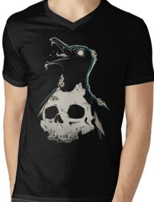 Penguin Madness Mens V-Neck T-Shirt