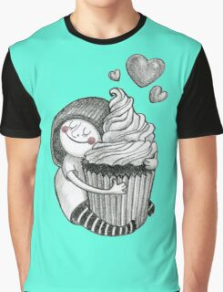 Girl & cupcake Graphic T-Shirt