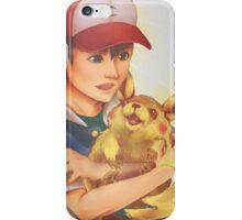 Ash and Pikachu iPhone Case/Skin