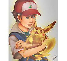 Ash and Pikachu Photographic Print