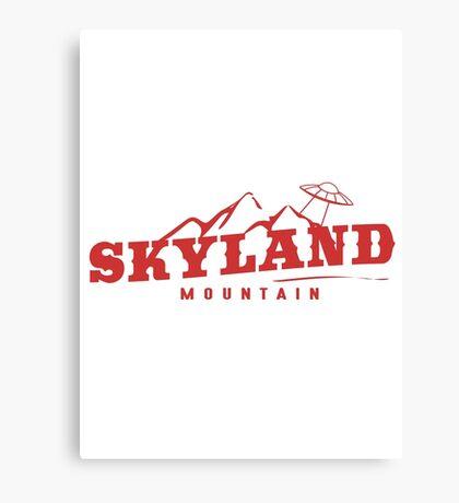 The X Files: Skyland Mountain  Canvas Print