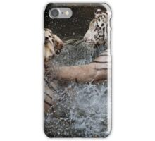 White Tigers Play Fighting iPhone Case/Skin