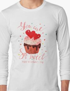 Valentine's day watercolor card Long Sleeve T-Shirt