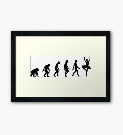 The Evolution of Ballerinas Framed Print