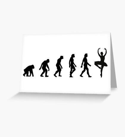 The Evolution of Ballerinas Greeting Card
