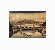 Below Mannen Bridge At Fukagawa - Hokusai Katsushika - 1831 - woodcut Unisex T-Shirt