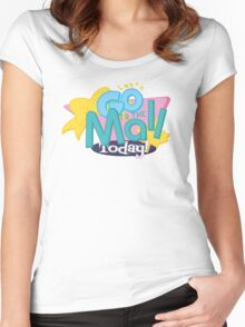 Let's Go to the Mall Today! Women's Fitted Scoop T-Shirt
