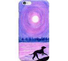 A Greyhound - Moonlit Memory  iPhone Case/Skin