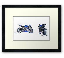 VRT Yamaha R1's Framed Print