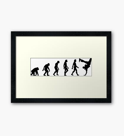 The Evolution of Breakdancing Framed Print