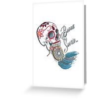 *TATTOO STYLE* Skull & Dreamcatcher Greeting Card