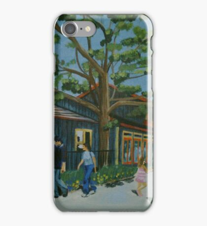 Trolley Passing williams cafe iPhone Case/Skin