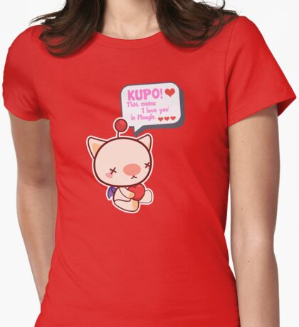 Happy Moogle Valentines Womens Fitted T-Shirt