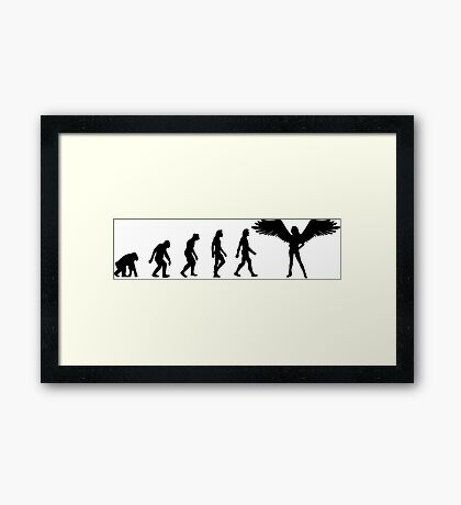 The Evolution of angels Framed Print