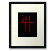 Steel Symbol - Blood Edition Framed Print
