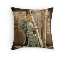 Ƹ̴Ӂ̴Ʒ WINGS OF AN ANGEL PLAYING HARP MUSIC- VARIOUS APPAREL-- PICTURE,PILLOW, AND OR TOTE BAG Ƹ̴Ӂ̴Ʒ Throw Pillow