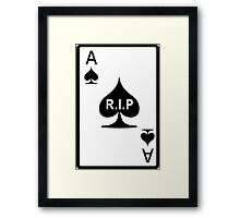 Rest in Peace Ace of Spades Framed Print