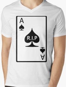 Rest in Peace Ace of Spades Mens V-Neck T-Shirt
