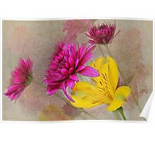 Fresh Flowers Painted Poster