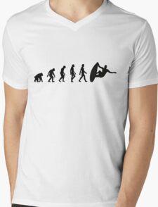 The Evolution of Surfing Mens V-Neck T-Shirt