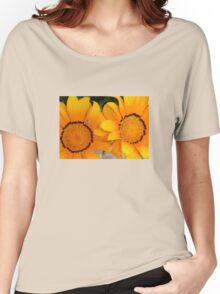 Two Orange Gazania Flowers with Snail Women's Relaxed Fit T-Shirt