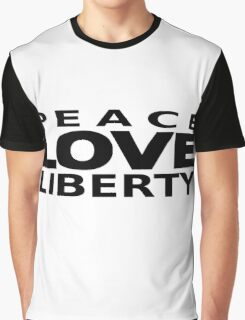 Peace Love Liberty Graphic T-Shirt