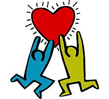 HARING - True Love Photographic Print