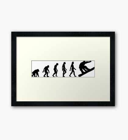 The Evolution of Snowboarding Framed Print