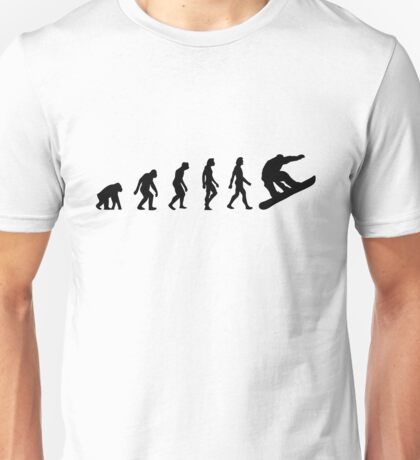 The Evolution of Snowboarding Unisex T-Shirt