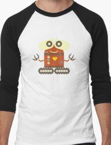 Cute Robot Men's Baseball ¾ T-Shirt