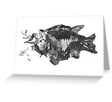 Prehistoric Fossil Fish Greeting Card