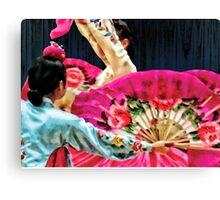 Traditional Korean Fan Dance Canvas Print